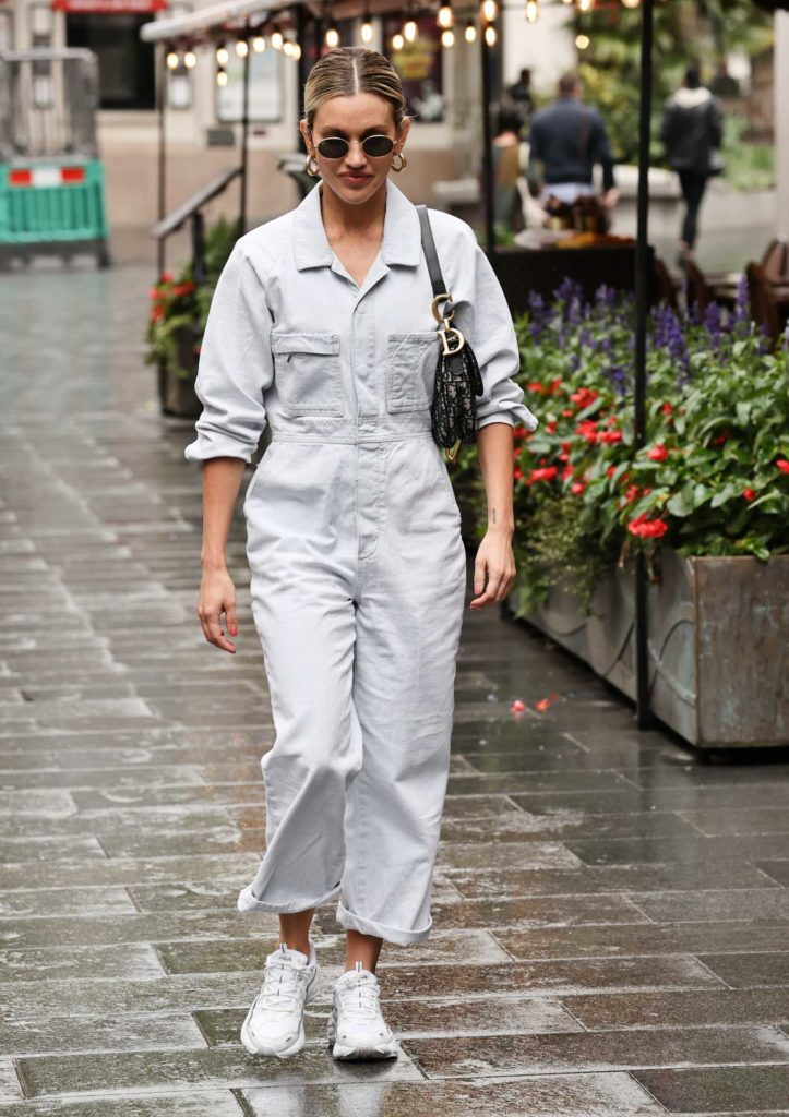Ashley Roberts in a Gray Jumpsuit