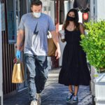 Ben Affleck in a Gray Tee Was Seen Out with Ana De Armas in Brentwood