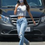 Camila Morrone in a Blue Ripped Jeans Was Seen Out in Tarzana