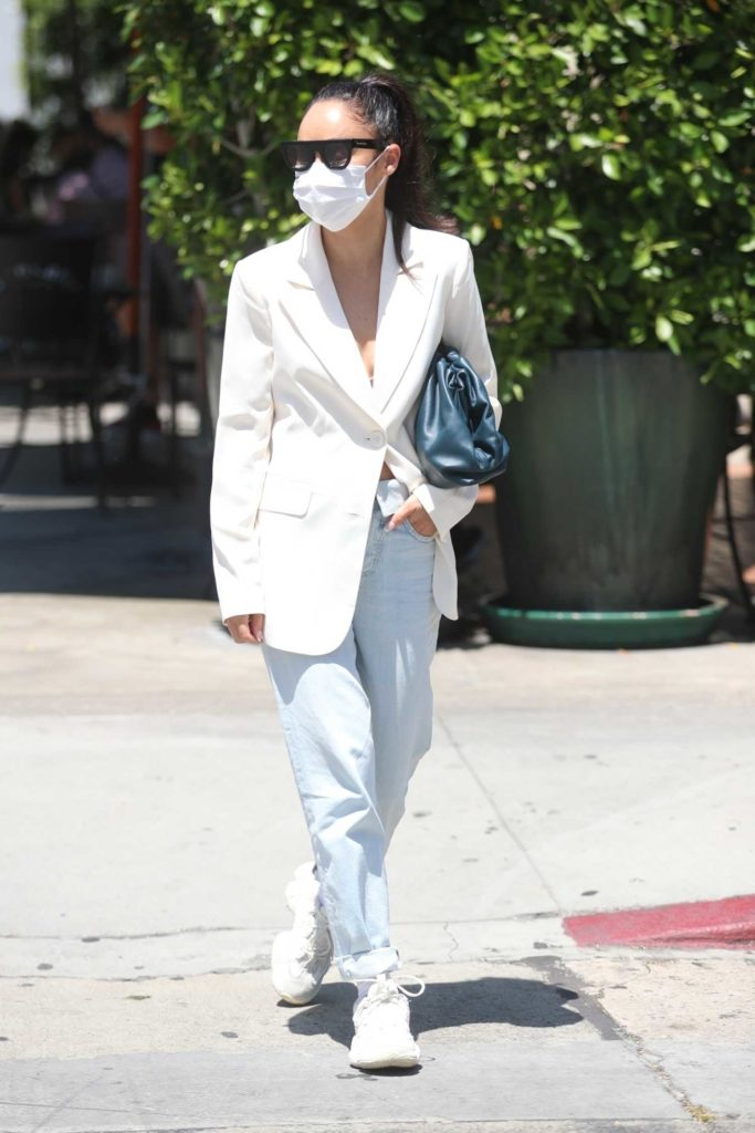 Cara Santana in a White Blazer