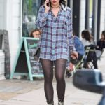 Daisy Lowe in a Plaid Shirt Was Seen Out in Primrose Hill