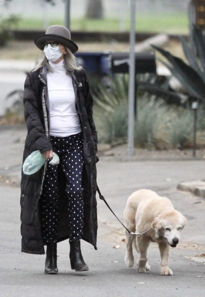 Diane Keaton in a Gray Bowler