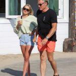 Dolph Lundgren in a Black Tee Was Seen Out with Emma Krokdal in Malibu
