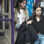 Emma Watson in a Beige Trench Coat Out Shopping at Tallulah Lingerie in North London