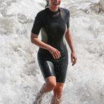 Helen Hunt Goes for a Swim in the Pacific Ocean in Malibu