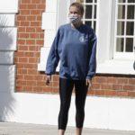 Ireland Baldwin in a Blue Sweatshirt Was Seen Out in Los Angeles