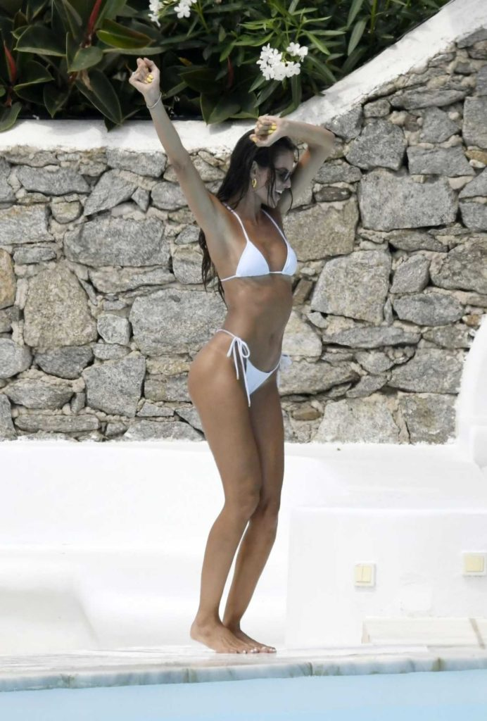 Izabel Goulart in a White Bikini