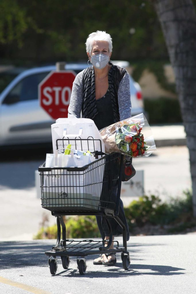 Jamie Lee Curtis in a Protective Mask