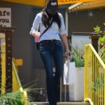 Jessica Gomes in a Bandana as a Face Mask Was Seen Out in Los Angeles