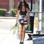 Jessica Gomes in a Black Sports Bra Was Seen Out in West Hollywood