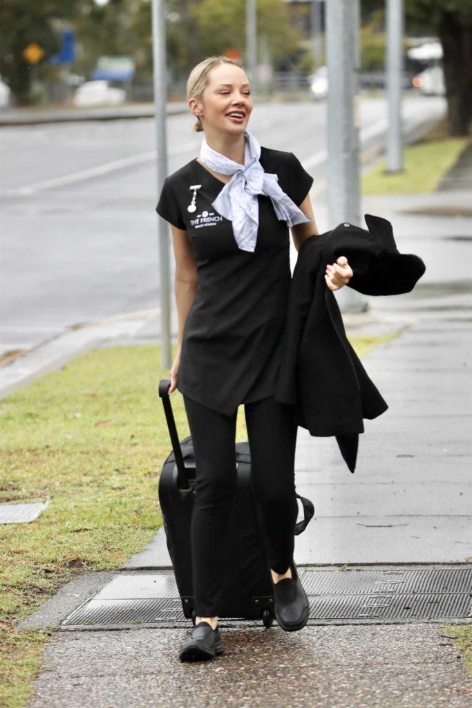 Jessika Power in a Black Dress