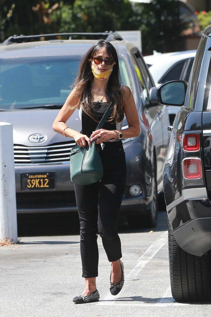 Jordana Brewster in a Black Jumpsuit