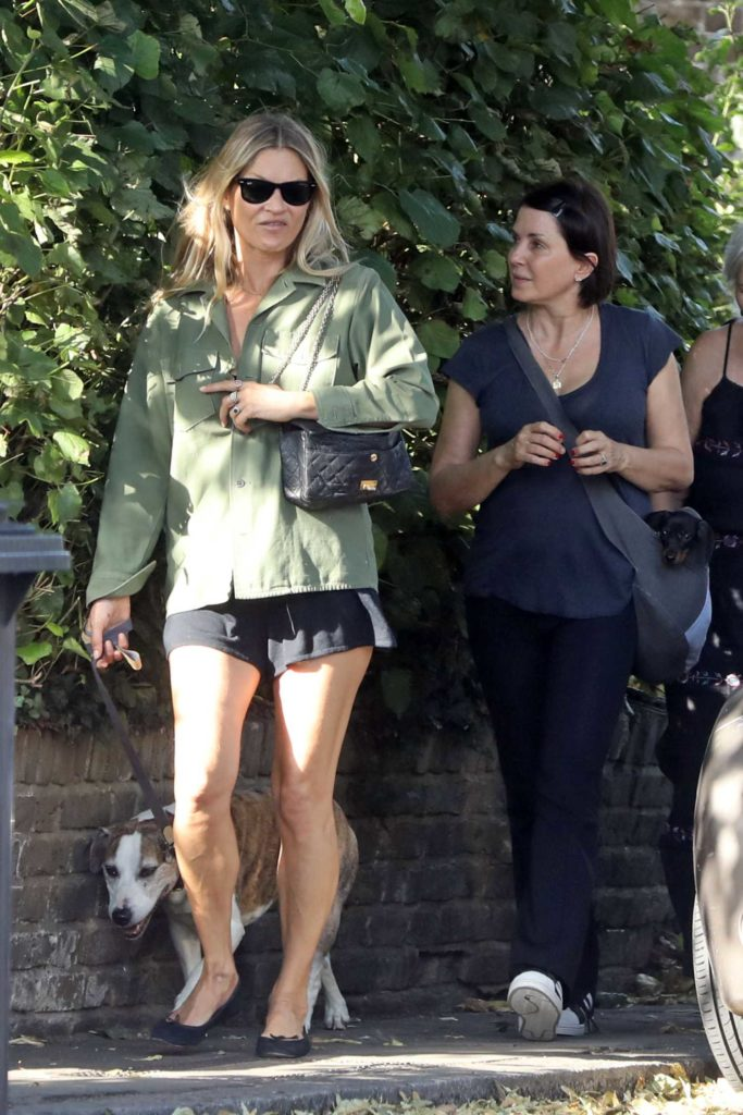 Kate Moss in a Green Shirt
