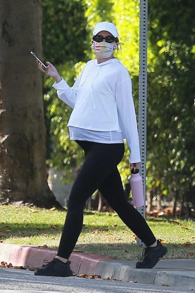 Katherine Schwarzenegger in a White Cap