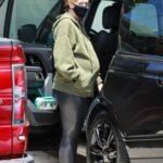 Katherine Schwarzenegger in an Olive Hoody Was Seen Out in Santa Monica