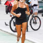 Kelly Bensimon in a Black Top Heads Out for a Jog in New York