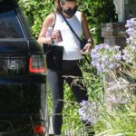 Lea Michele in a White Top Was Seen Out in Los Angeles