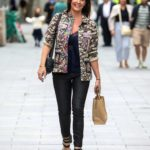 Lucy Horobin in a Camo Jacket Arrives at the Global Radio Studios in London