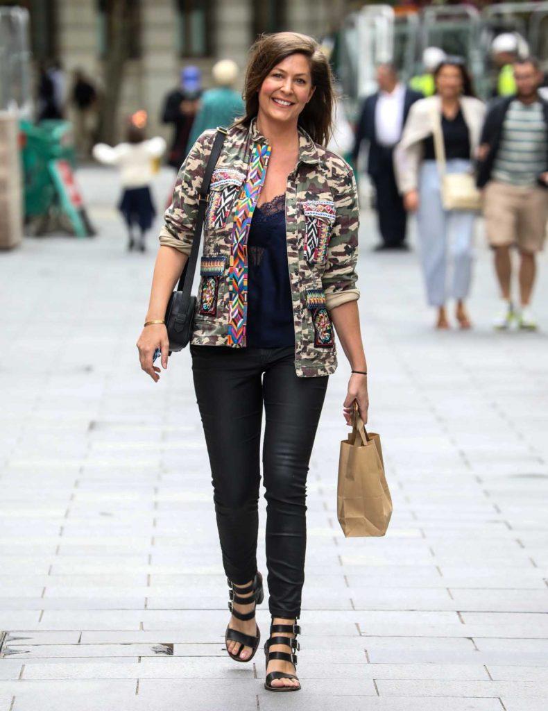 Lucy Horobin in a Camo Jacket