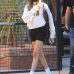 Madison Beer in a White Nike Sneakers Was Seen Out in West Hollywood