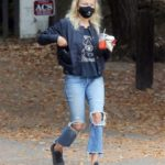 Malin Akerman in a Blue Ripped Jeans Takes a Morning Walk Around Griffith Park in Los Angeles