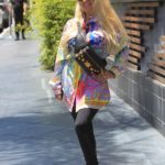 Marcela Iglesias in a Full Colour Versace Shirt Was Seen Out in Hollywood