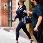 Mariah Carey in a Black Leggings Was Seen Out in New York