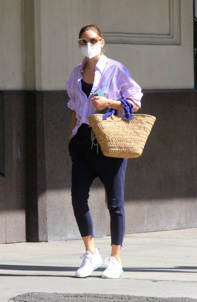 Olivia Palermo in a White Sneakers