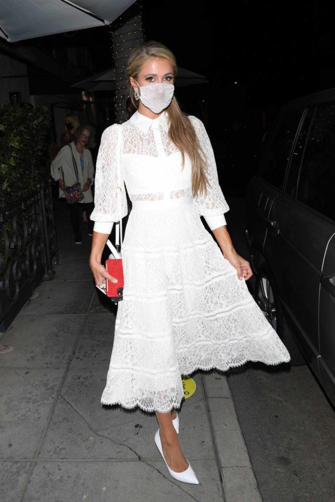 Paris Hilton in a White Dress