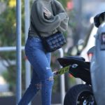 Phoebe Burgess in a Blue Ripped Jeans Was Seen Out in Sydney
