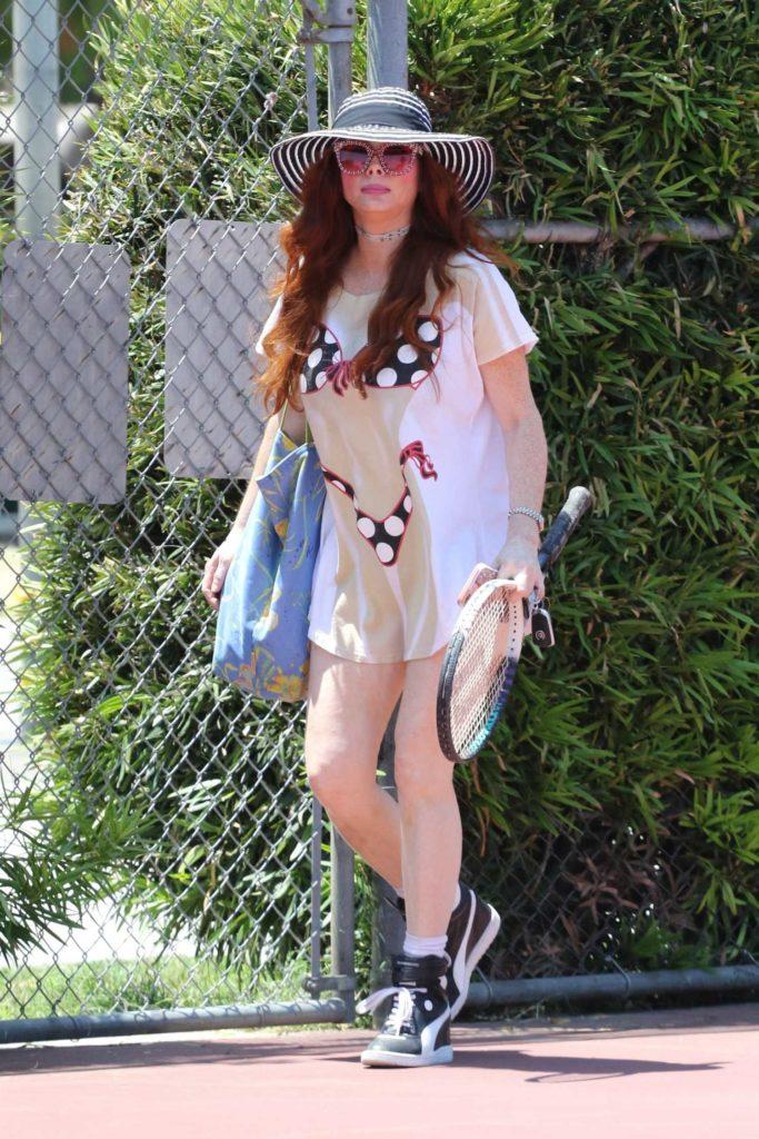 Phoebe Price in a Bikini T-Shirt