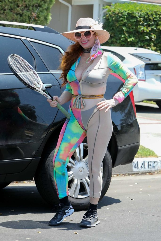 Phoebe Price in a Full Colour Outfit