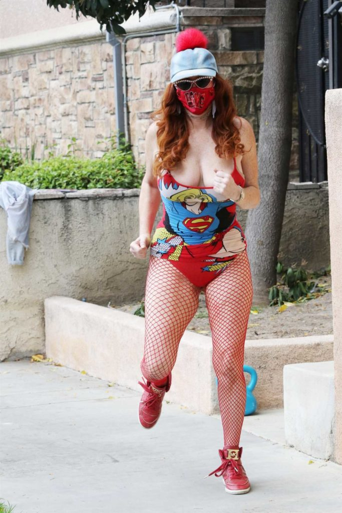 Phoebe Price in a Supergirl Outfit