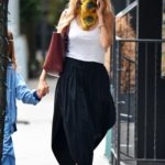 Sienna Miller in a White Top Was Seen Out with Her Daughter in New York