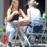 Sistine Stallone in a Black Top Enjoys Lunch with a Friend in Los Angeles