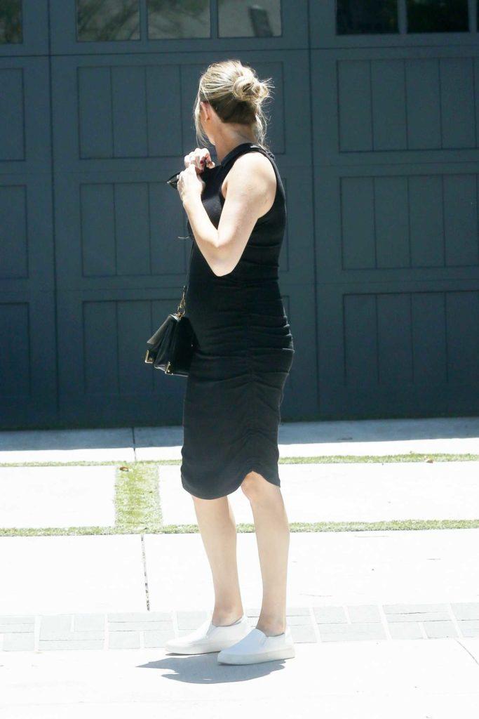 Stassi Schroeder in a Black Dress