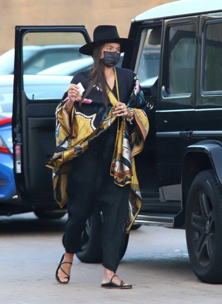 Tasya Van Ree in a Black Hat
