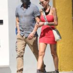 Tina Louise in a Red Dress Was Seen Out with Brian Austin Green in Los Angeles