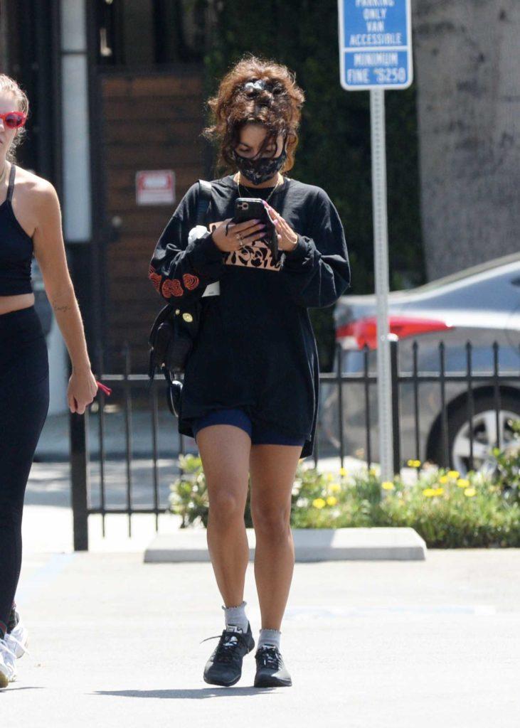 Vanessa Hudgens in a Black Sweatshirt