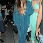 Addison Rae in a Silver Bra Leaves Dinner at Catch in West Hollywood