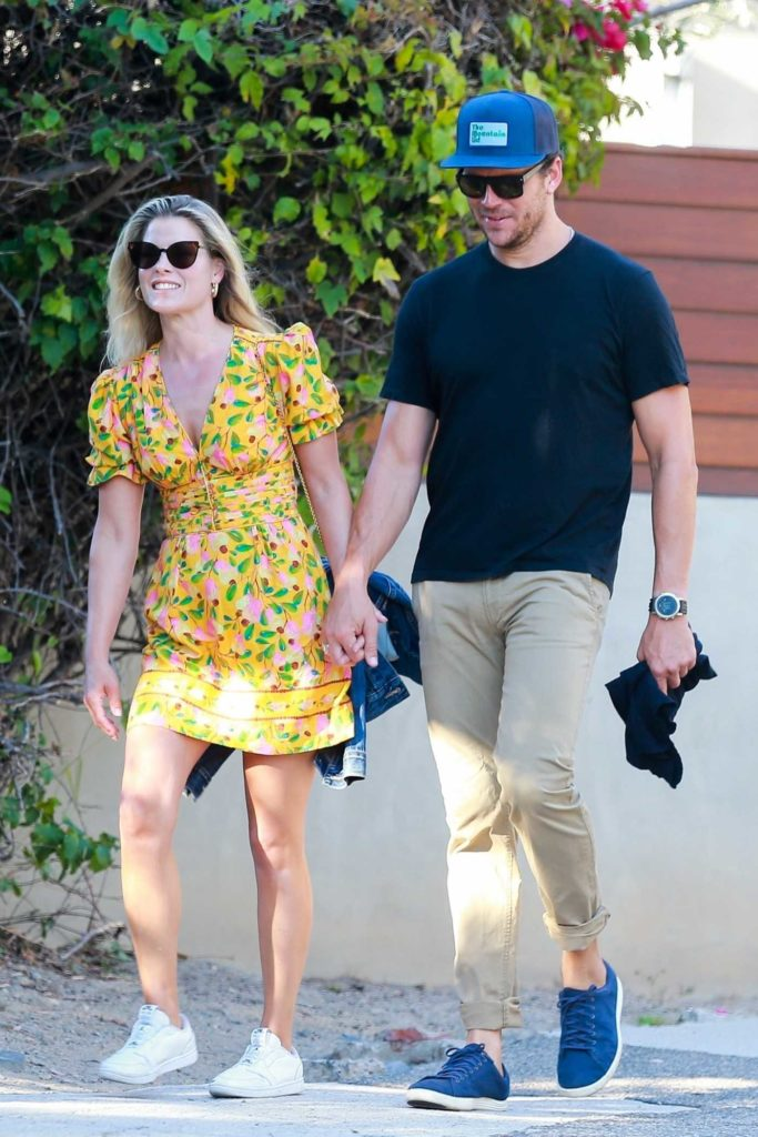 Ali Larter in a Yellow Floral Dress