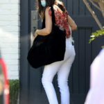 Ana de Armas in a White Jeans Leaves Ben Affleck's Home in Brentwood