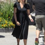 April Love Geary in a Black Dress Stocks up on Groceries in Malibu