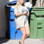 Ashley Benson in a Beige Tee Was Seen Out in Los Feliz
