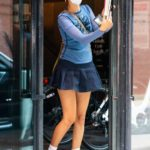 Bella Hadid in a White Protective Mask Was Seen Out in New York