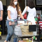Brooke Shields in a White Tee Goes Grocery Shopping in Sag Harbor, New York