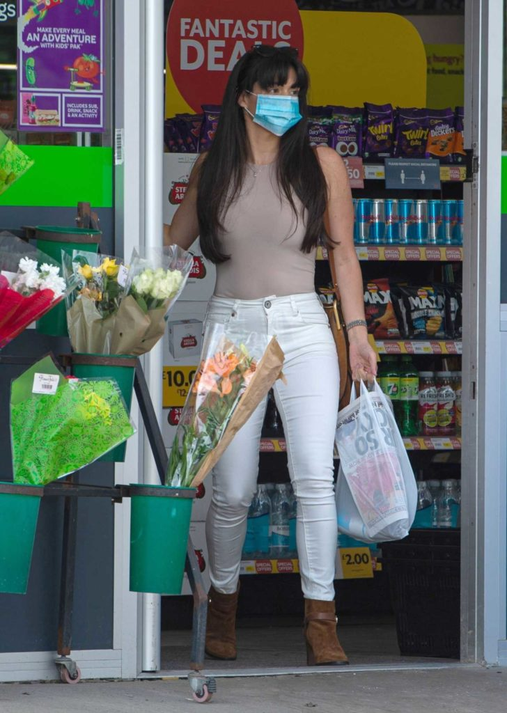 Casey Batchelor in a White Jeans