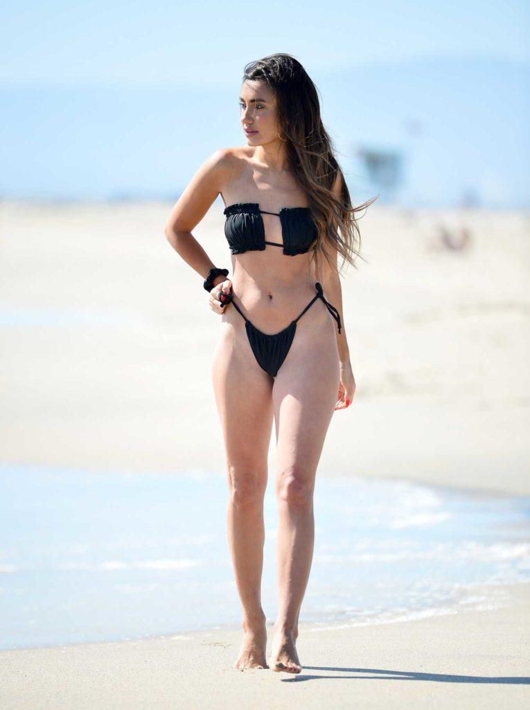 Cassie Cardelle in a Black Bikini