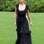 Chloe Sims in a Black Dress on the Set of The Only Way is Essex TV Show in Essex