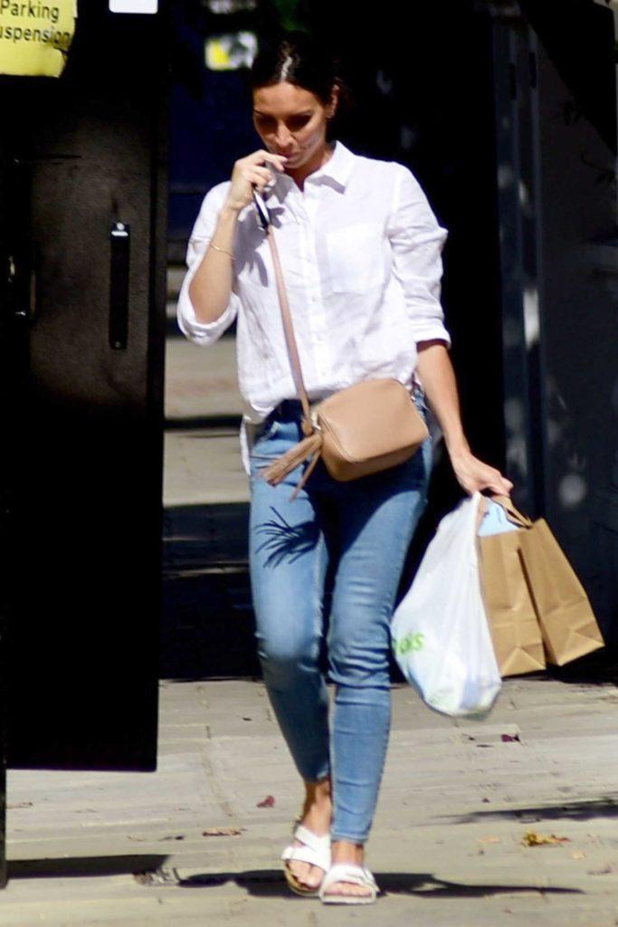 Christine Lampard in a White Shirt